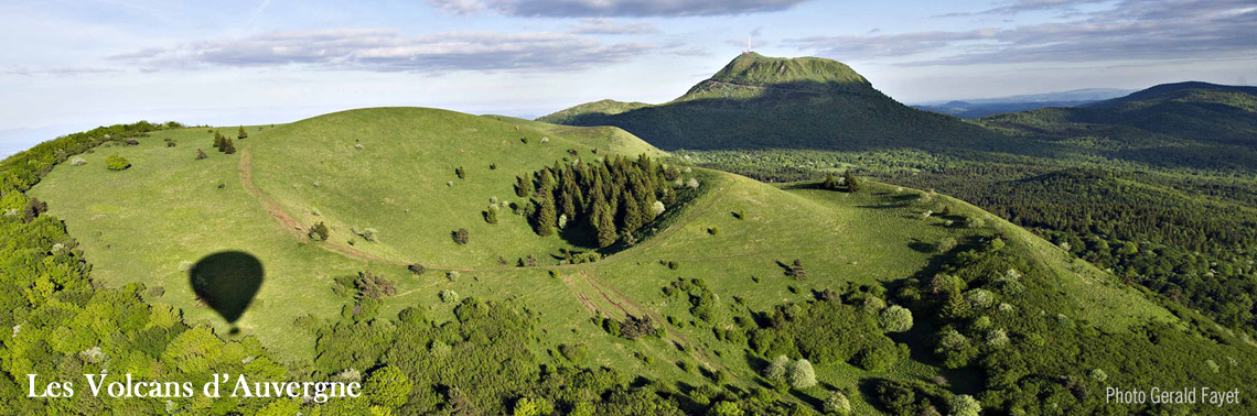 Balloon rides over the Volcanos - Auvergne
